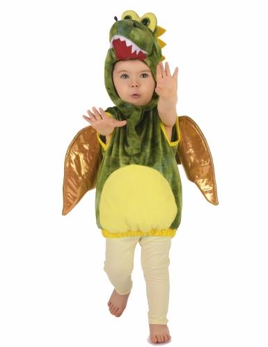Vihreä dinosaurus-naamiaisasu lapsille-4