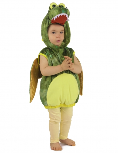 Vihreä dinosaurus-naamiaisasu lapsille-3