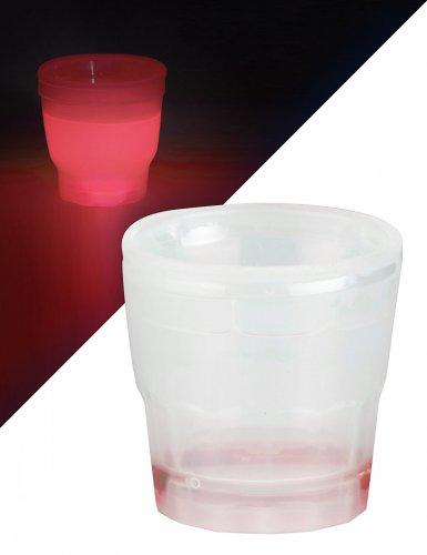 Punainen shottilasi valolla 50 ml