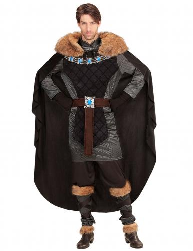 Tumman prinssin keskiaikainen naamiaisasu miehelle