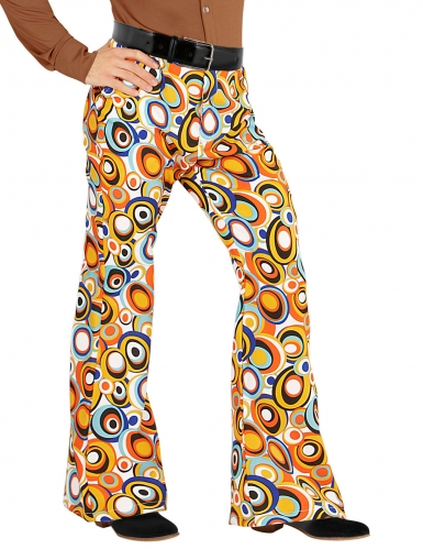 Pallokuvioiset 70-luvun groovy-housut miehelle