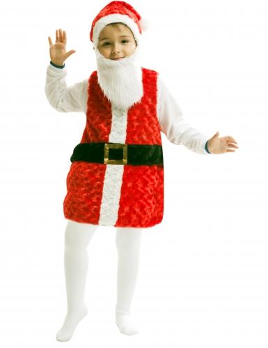 Joulupukin naamiaisasu lakilla ja paralla lapselle