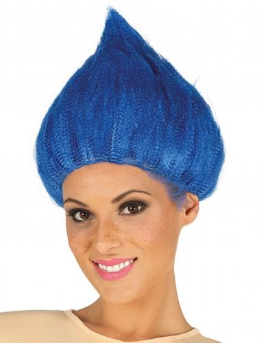 Sininen trollipeikon peruukki aikuiselle