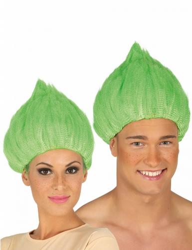 Vihreä trollipeikon peruukki aikuiselle