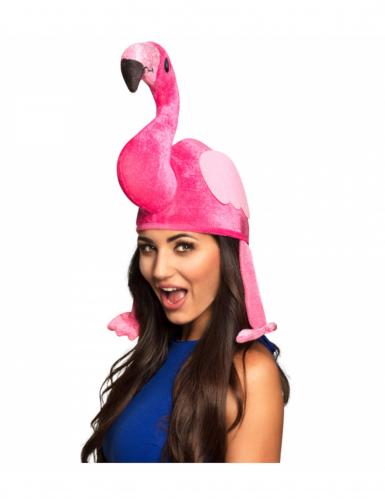 Pinkki flamingohattu aikuiselle