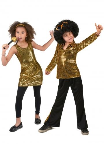 Kullanvärinen diskoasusetti lapsille