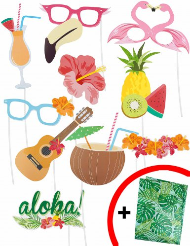 Photobooth setti Hawaiji-teemalla
