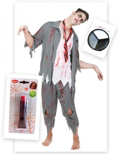 Zombien koulupuku - Halloween asusetti aikuisille