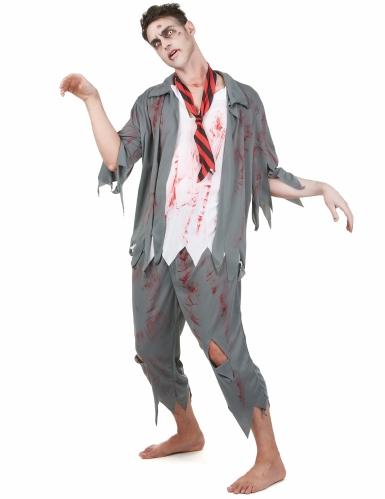 Zombien koulupuku - Halloween asusetti aikuisille-1