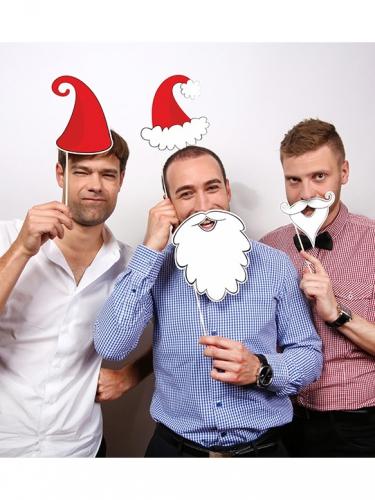 Joulupukki photobooth-asusteet 4 kpl-1
