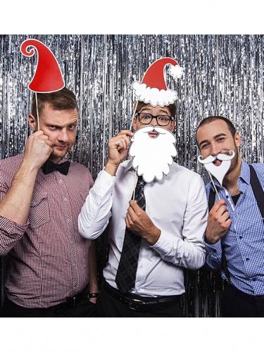 Joulupukki photobooth-asusteet 4 kpl-2