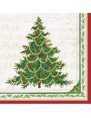 Joulukuusi- servetit 33 x 33 cm