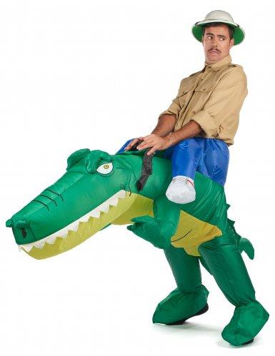 Krokotiiliratsastaja Carry Me -naamiaisasu aikuisille