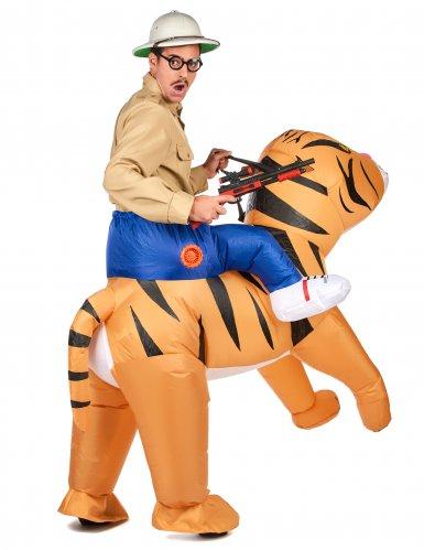 Tiikerillä ratsastaja -naamiaisasu aikuiselle-2