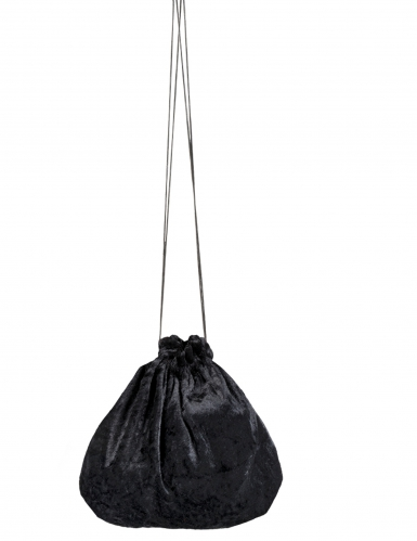 Musta veluuri laukku 27 cm