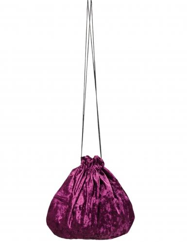 Violetti veluurinen pussi 27 cm