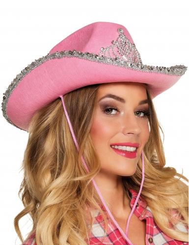 Prinsessan vaaleanpunainen cowboyhattu naiselle