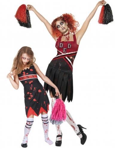 Zombiekannustajat - Halloween asu aikuiselle ja lapselle