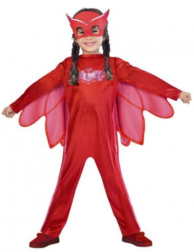 Pyjamasankarit™ Pöllö -naamiaisasu lapsille