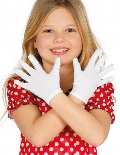 Valkoiset lyhyet hanskat lapselle