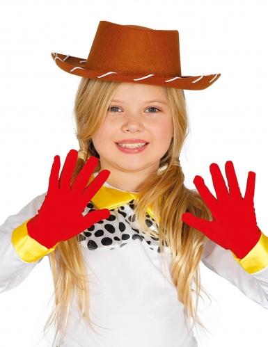 Punaiset hanskat lapselle