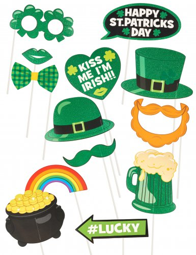 Saint Patrick's Day -photobooth setti 13 kpl