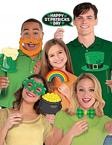 Saint Patrick's Day -photobooth setti 13 kpl-1