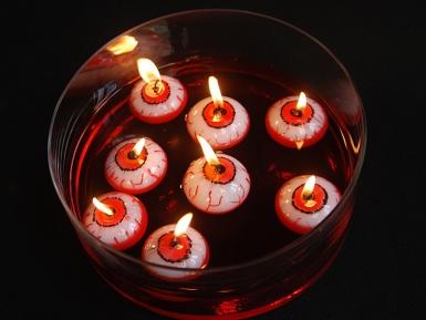 Verinen silmä- kelluva kynttilä halloweeniksi 4 cm-2