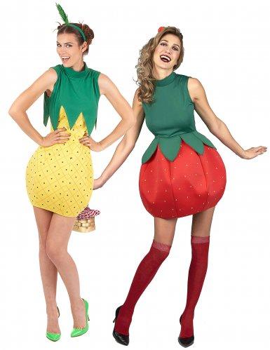 Mansikka ja Ananas -naamiaisasusetti aikuisille