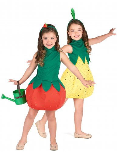 Mansikka ja Ananas -naamiaisasusetti lapsille