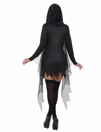Musta seksikäs viikatemiehen naamiaisasu naiselle-1