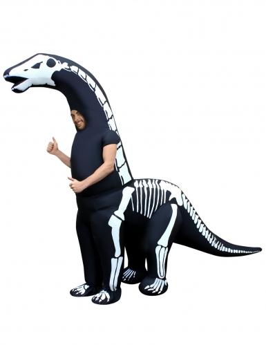 Morphsuits™- puhallettava dinosauruksen luuranko -asu aikuiselle