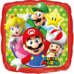 Super Mario™- neliönmuotoinen alumiinipallo 23 cm