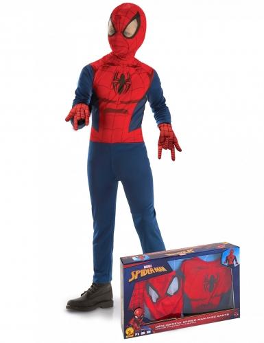 Klassinen Spiderman™-naamiaisasu ja hanskat pojalle