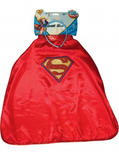 Supergirlin™ viitta ja hiuspanta lapselle