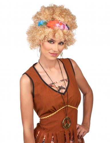 Blondi kihara hippiperuukki aikuiselle-1
