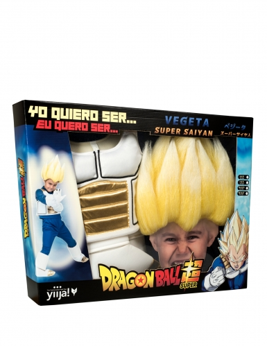 Super Saiyan Vegeta Dragon Ball™- lahjapaketti peruukilla lapselle-3