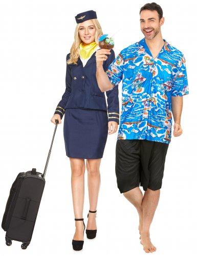 Lentoemäntä ja turisti- pariasu