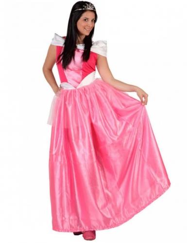Prinsessan vaaleanpunainen mekko naiselle