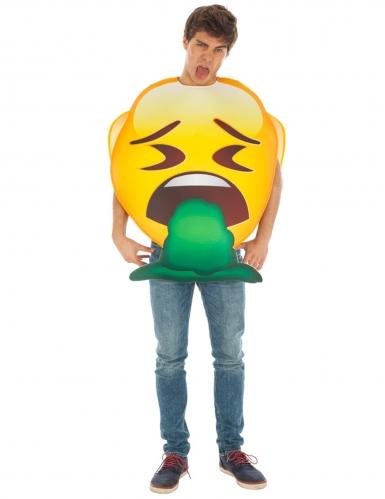 Oksentava Emoji™-naamiaisasu aikuiselle