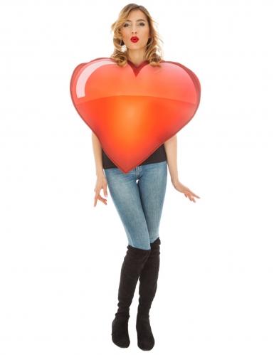 Sydän-Emoji™-naamiaisasu aikuiselle