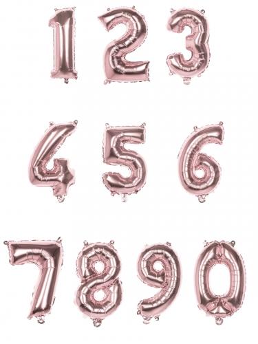 Vaaleanpunainen numeroilmapallo 86 cm-1