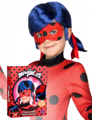 Ladybug™ peruukki ja naamari lapselle