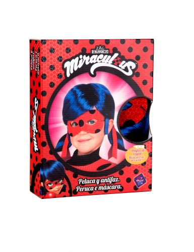 Ladybug™ peruukki ja naamari lapselle-1