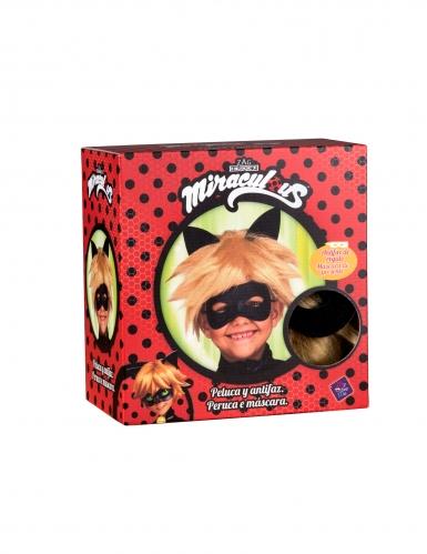 Cat Noir Miraculous™ peruukki ja naamari lapselle-1
