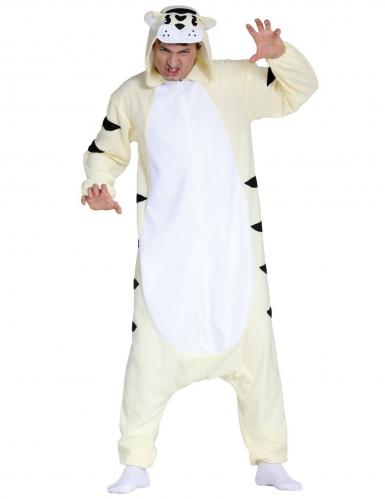 Valkoisen tiikerin haalari aikuiselle