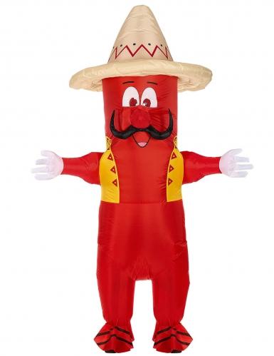 Ilmatäytteinen meksikolaisen chilin naamiaisasu aikuiselle-1