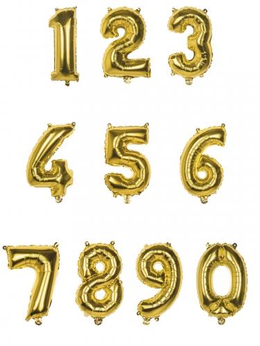 Kullanvärinen numeroilmapallo 35 cm-1