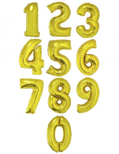 Jättimäinen kultainen numeroilmapallo 1 m-1