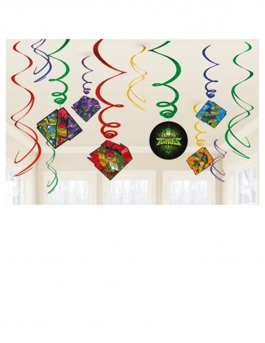 Teini-ikäiset mutanttininjakilpikonnien nousu™-spiraalit riippukoristeet 12 kpl